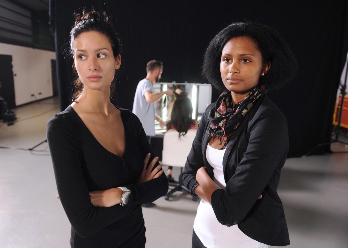 Oliwia i Natalia przed sesją